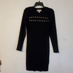 Michael Kors new black long sleeved sweater dress